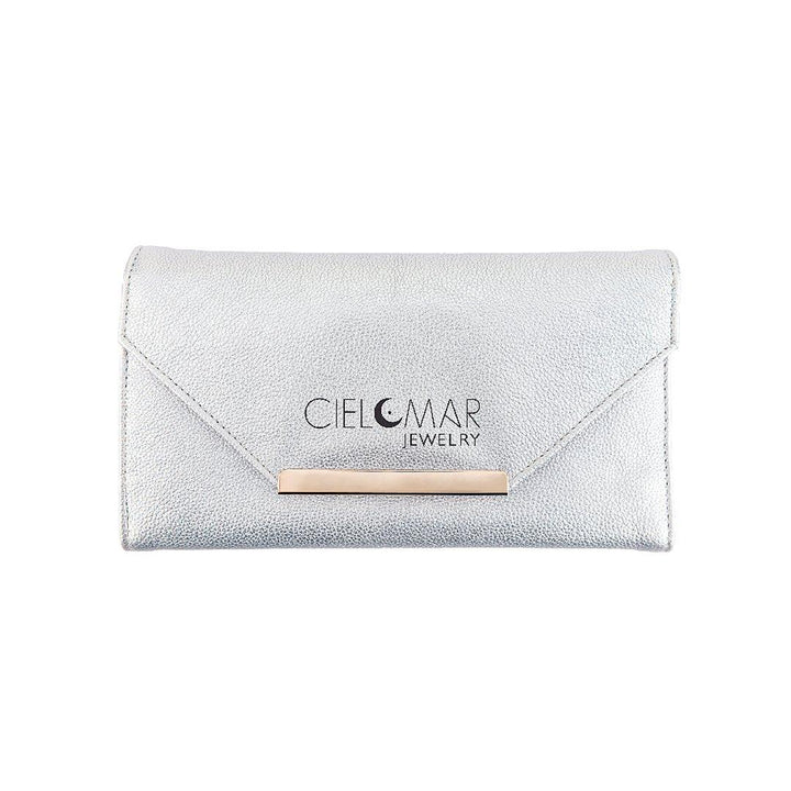 Cielomar Jewelry silver travel jewelry clutch