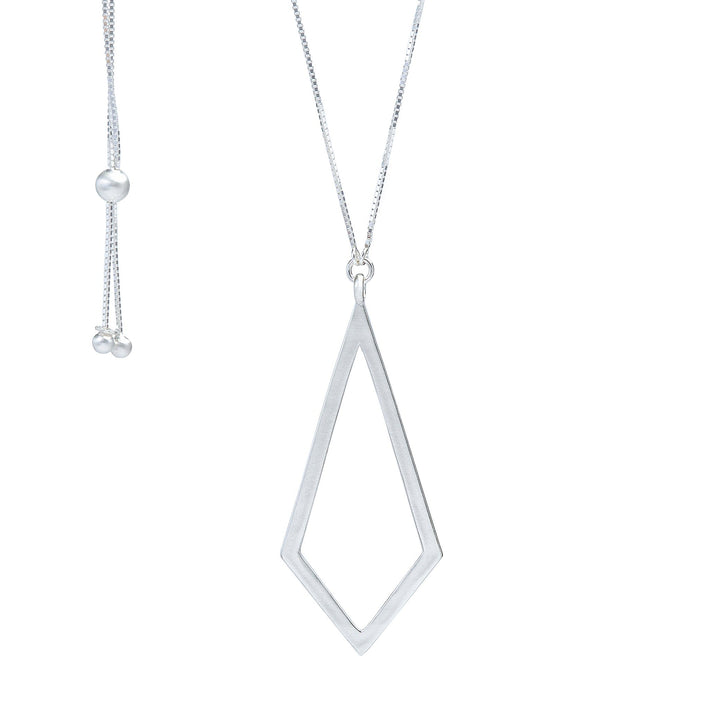 Cometa Statement Pendant Necklace - Silver