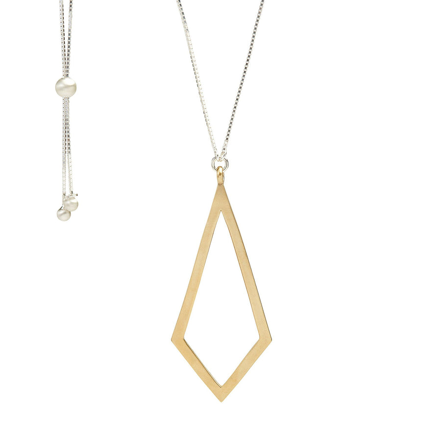 Minimalist kite necklace in gold
