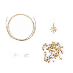DIY bracelet kit with star charm