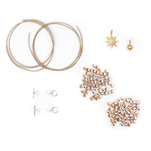 DIY bracelet kit with star charms