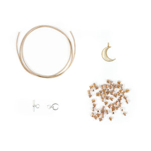 DIY bracelet kit with moon charm