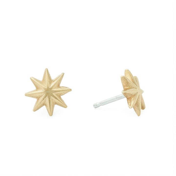 Minimalist gold star stud earrings