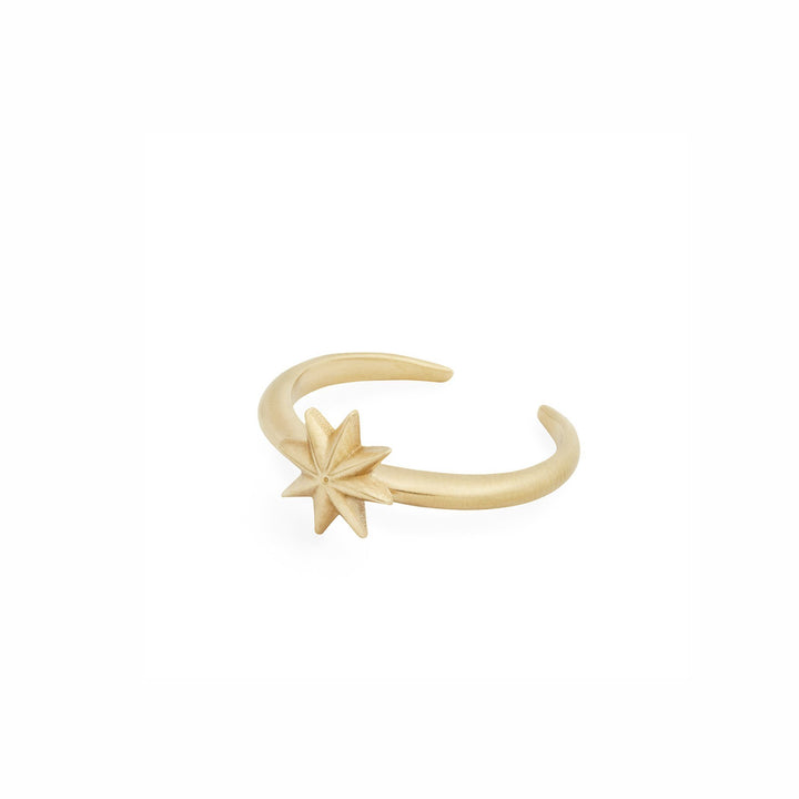 Adjustable minimalist bronze star ring