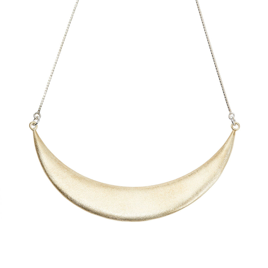 Luna Creciente Statement Necklace - Bronze