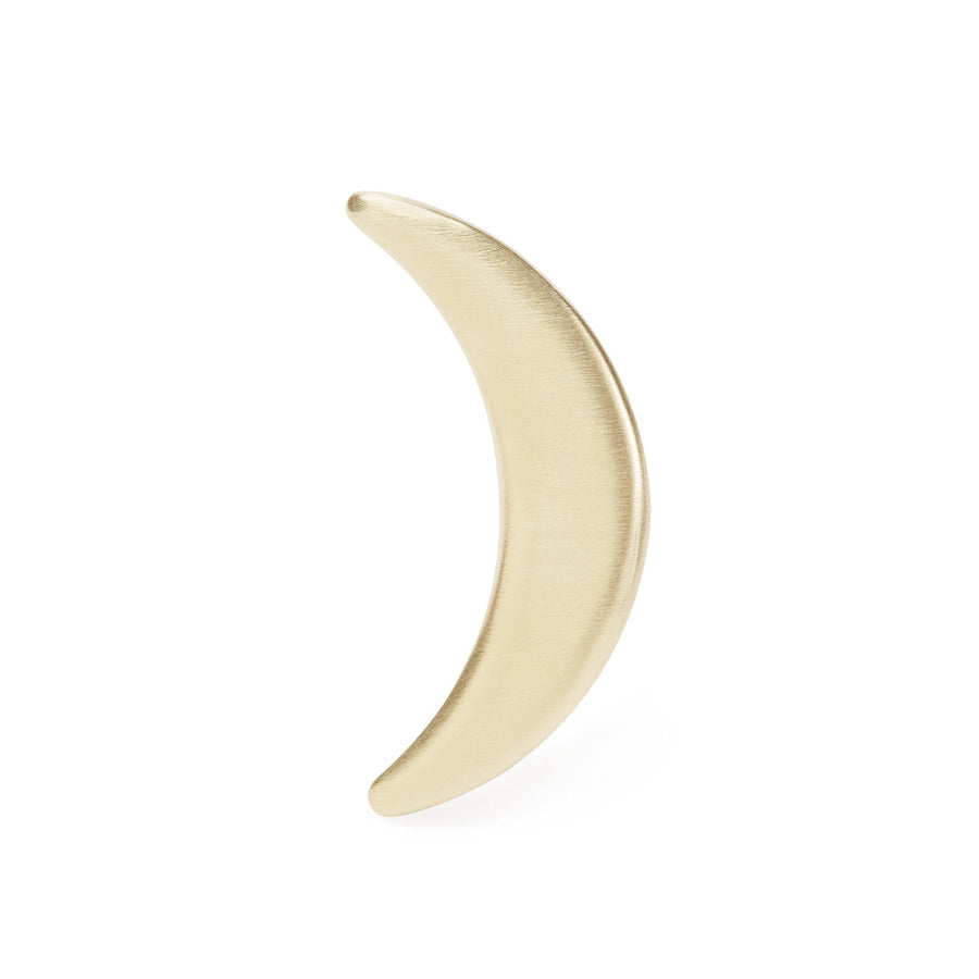 Statement crescent moon ring in gold