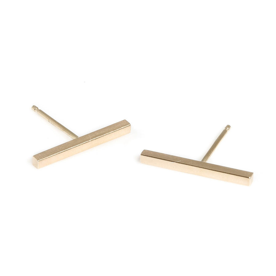 Limited Edition 14K Yellow Gold Long Bar Earrings