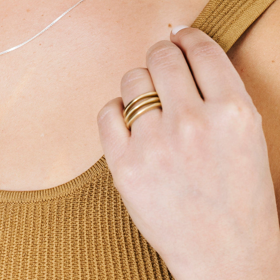 Luna Creciente Stackable Ring - Bronze (Single)