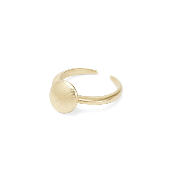Minimalist gold full moon ring