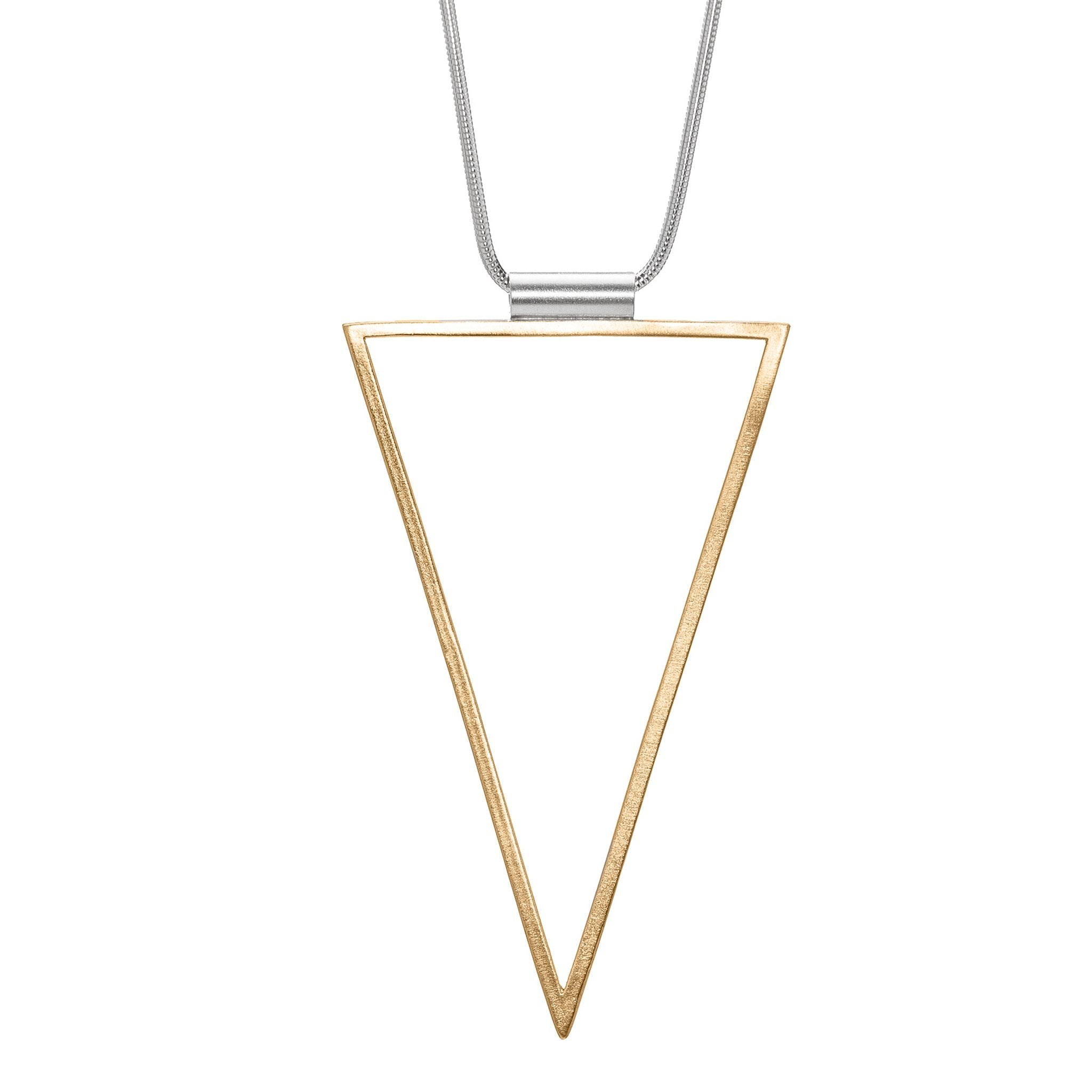 Triangle Frame Long Necklace - Bronze – Cielomar Cuevas