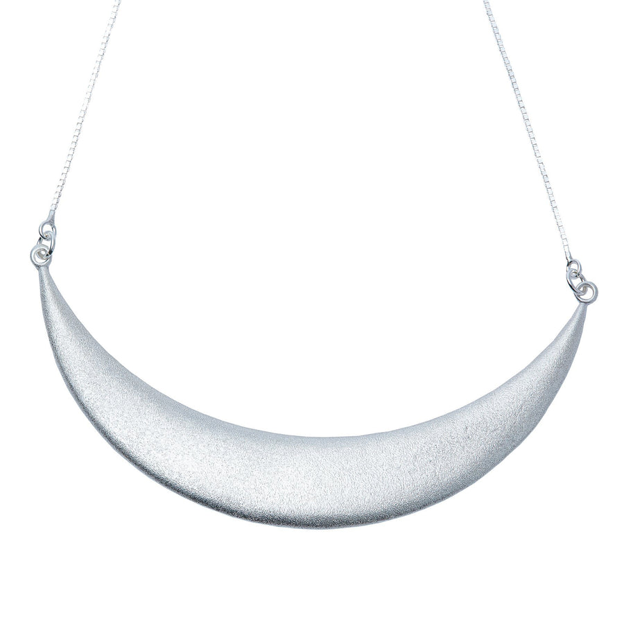 Luna Creciente Statement Necklace - Silver