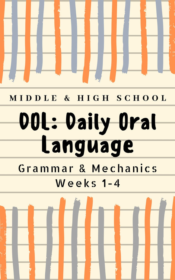 DOL : Grammar and Mechanics Bell-Ringers | Warm-Ups | Secondary | High School