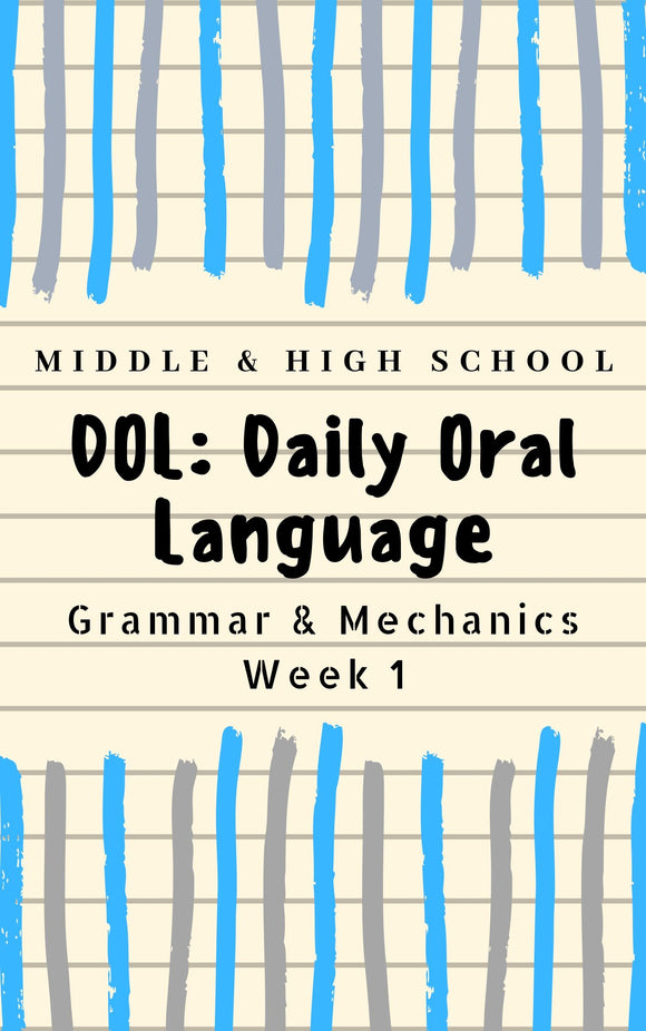 FREE Secondary Grammar and Mechanics Bell-Ringers | Warm-Ups | Secondary | High School