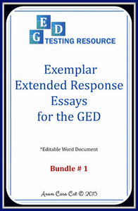 FREE: GED Extended Response Essay Exemplars: 5 Argumentative Essays + Structure Guide