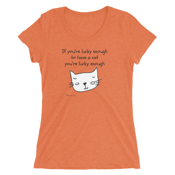 Funny Cat Lover Shirt | Cat Lady Gift | Crazy Cat Lady Gift | Ahimsa Ware | Ladies' short sleeve t-shirt