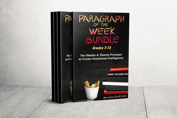 Paragraph of the Week GRADES 7, 8, 9, 10 ~ TEN WEEK Bundle ~ Social-Emotional Domain