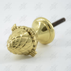"""1890"" Pineapple Brass Finials"