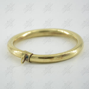 "Type ""15"" 8mm Hollow Brass Rings"