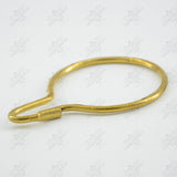 Shower Bath Rail Rings - Polished Brass