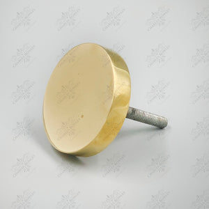 """1996"" Disc Brass Finials"