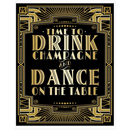 Musykrafties Roaring 20s Gatsby Time To Drink Champagne Dance On