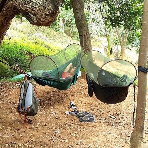 Multi-use Portable Hammock  with Mosquito Net - Backpacker street