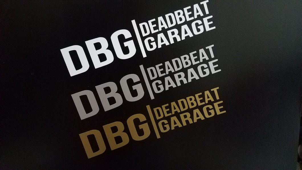 DBG Logo sticker
