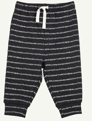 Black Heather Dash Dot Pant - Rosey Cheeks Children's Boutique