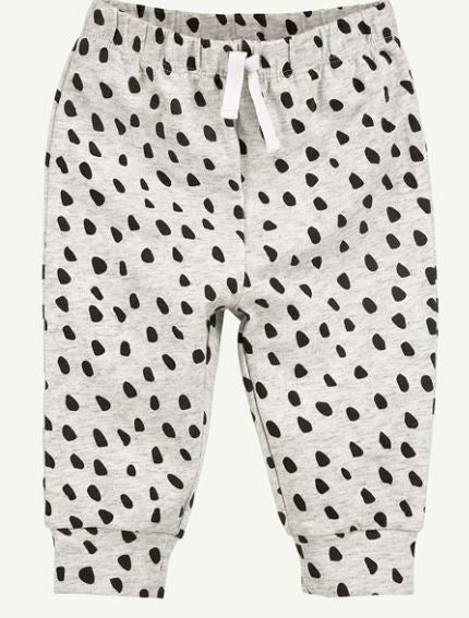 Oatmeal Heather Bear Dot Pant - Rosey Cheeks Children's Boutique