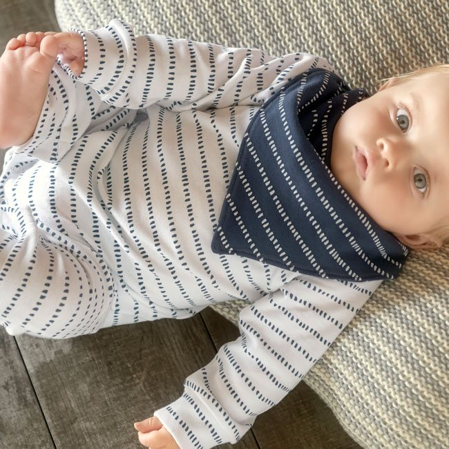 Dash Stripe Unionsuit - Rosey Cheeks Children's Boutique