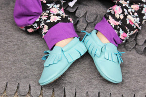 Classic Leather Handmade Moccasins - Rosey Cheeks Children's Boutique