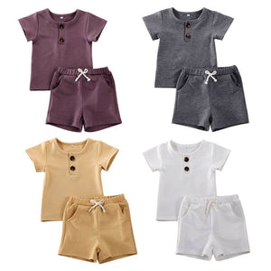Solid Short Sleeve Set