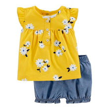 Girls Yellow Flowers Set