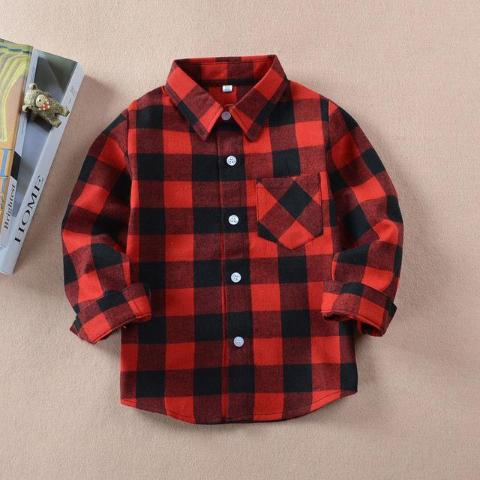 Flannel Button Down Shirt - Rosey Cheeks Children's Boutique