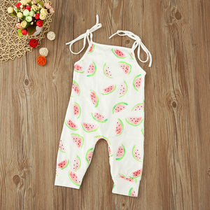 Watermelon Harness Romper - Rosey Cheeks Children's Boutique