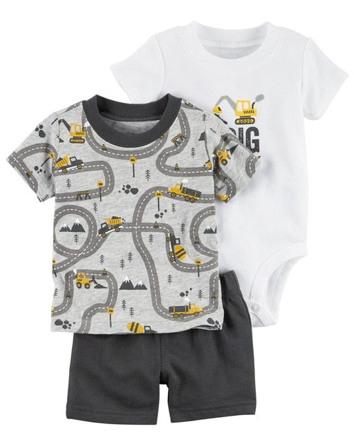 Summer Boys Cotton Sets - Rosey Cheeks Children's Boutique