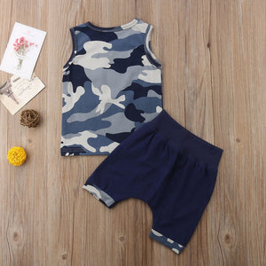 Blue Camo Set - Rosey Cheeks Children's Boutique