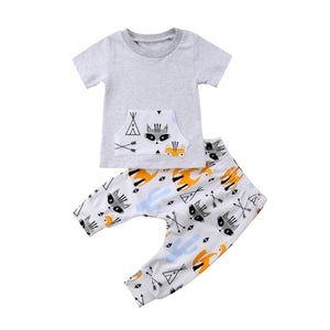 Boys Fox Set - Rosey Cheeks Children's Boutique