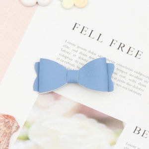 Metallic Faux Leather Bow - Rosey Cheeks Children's Boutique