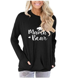 Mama Bear Print Pockets Sweatshirt - Rosey Cheeks Children's Boutique