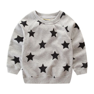 Boys Gray Star Crewneck - Rosey Cheeks Children's Boutique