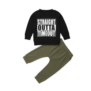 Boys Straight Outta Timeout Set - Rosey Cheeks Children's Boutique