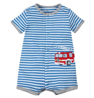 Boys Firetruck Romper - Rosey Cheeks Children's Boutique