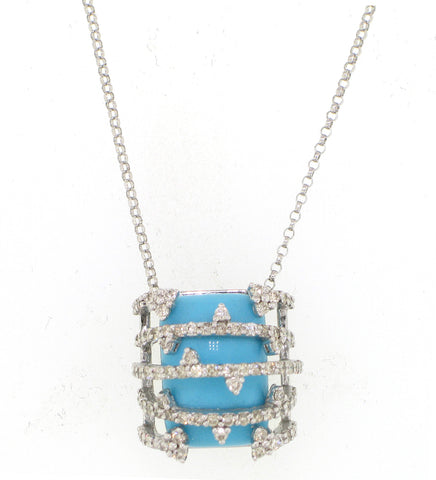 Caged Turquoise Necklace - Vassari Luxury Collection