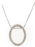 Oval Halo Pendant - Vassari Luxury Collection