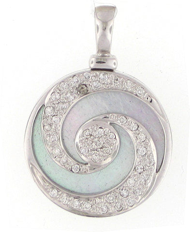 Mother Pearl Swirl Necklace - Vassari Luxury Collection