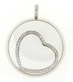 Floating Heart Necklace - Vassari Luxury Collection