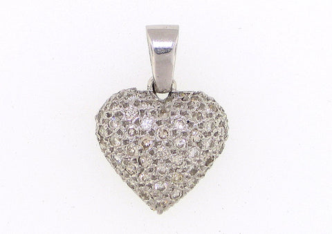 Puffy Heart Necklace - Vassari Luxury Collection