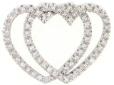 Double Heart Necklace - Vassari Luxury Collection