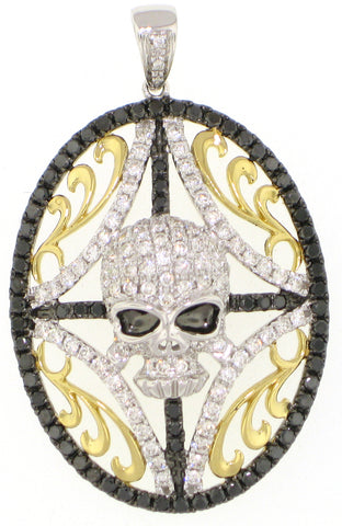 Black Diamond Skull Pendant - Vassari Luxury Collection
